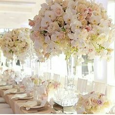 Floral table  centrepiece for your wedding lunch