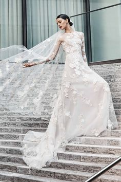 Long sleeve wedding dresses are the picture of bridal perfection. Browse the long sleeve wedding dresses we love. Naeem Khan Wedding Dresses, Naeem Khan Bridal, Wedding Dress Trends, Fall Wedding Dresses, Bridal Dresses, Wedding Gowns, Lace Wedding, Wedding Reception, Most Beautiful Wedding Dresses
