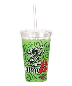 Sip in lovely Oz-inspired style! Timeless and full of classic style, this fun tumbler ensures that staying hydrated and avoiding spills on the go is fabulously fashionable.Includes tumbler, lid and strawHolds 16 oz.AcrylicHand washImported