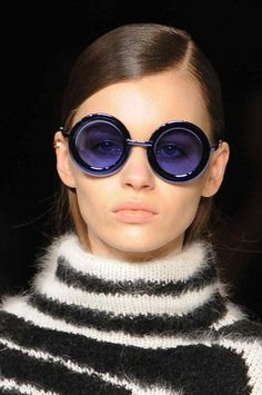 Circular sunglasses take on coloured hues for #AW14 #MFW from...