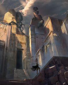 Tomb Kings, Dragon Artwork, Graphic Artwork, Fantasy Setting, All I Ever Wanted, Art Station, Digital Art Tutorial, Environment Concept Art, Fantasy Inspiration