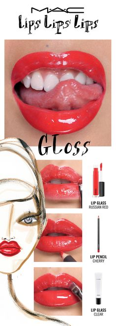 Gleam, glaze and glow with a lacquered look that boasts a glass-like shine. Seen here in The Cherry Bomb Gloss. Try a lip trend, then make it your own! Your choice. Your creation. Your trend. Created by Senior Artist Melissa Gibson, inspired by National Artist Carla Arcamone and Jane McKay.