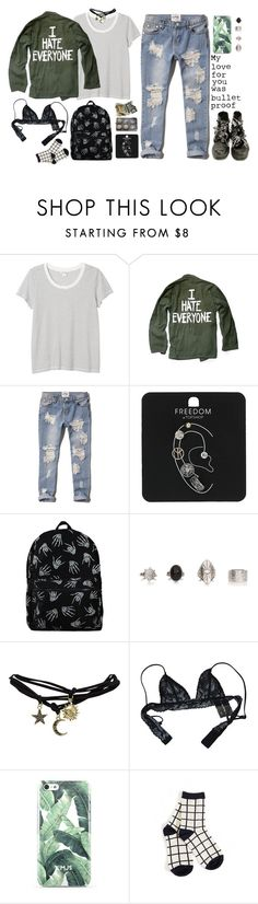 """""""Untitled #574"""" by ccbri ❤ liked on Polyvore featuring Monki, Abercrombie & Fitch, Topshop, Wet Seal and Chantal Thomass"""