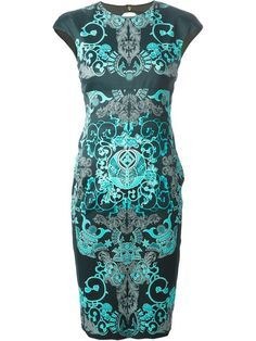 Versace Collection Baroque Print Dress - Etre - Vestire - Farfetch.com