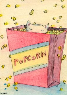 Hey, I found this really awesome Etsy listing at http://www.etsy.com/listing/106643517/original-aceo-painting-popcorn