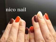 こんにちは、nico nail です。    今回は秋の旬な色を使ったシンプルネイルです。   秋にはいつ...