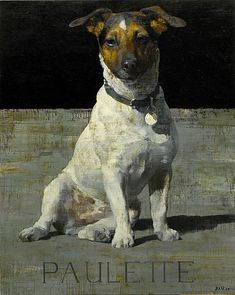 François Bard «~ Painting of a Jack Russell