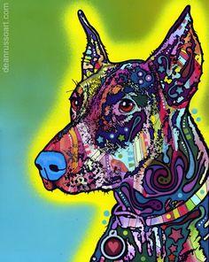 "Trademark Art ""Doberman"" by Dean Russo Graphic Art on Archival Paper Wall Art Prints, Fine Art Prints, Framed Prints, Canvas Prints, Doberman Pinscher, Doberman Dogs, Pop Art Colors, Vibrant Colors, Dachshund Love"