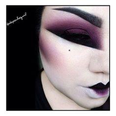 Geisha inspired makeup by depechegurl Geisha Makeup, Sfx Makeup, Costume Makeup, Makeup Art, Beauty Makeup, Hair Makeup, Makeup Inspo, Makeup Inspiration, Makeup Ideas
