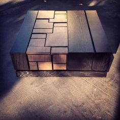 Abaci Two Tone 34 // Black Lacquer Coffee Table with Dark by MSTRF, $3,650.00