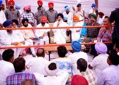 CM Parkash Singh Badal interacted with people during Sangat Darshan program in Lambi assembly segment.#progressivepunjab #akalidal
