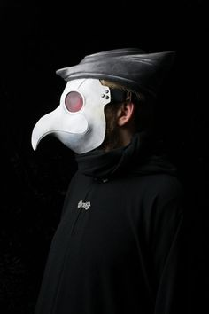 Dr Phileas Plague Doctor mask white and Tricorn by Ministryofmasks