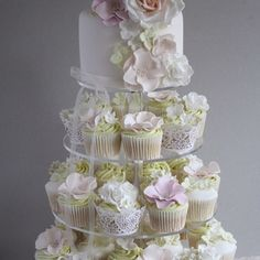 Mix and match liners and fondant flowers makes this masterpiece very unique!