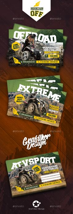 Off-Road Adventure Postcard Template PSD, InDesign INDD