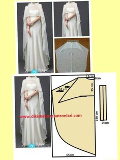 24 Ideas For Dress Pattern Wedding Evening Gowns Dress Sewing Patterns, Clothing Patterns, Capelet Pattern Sewing, Abaya Pattern, Diy Clothing, Sewing Clothes, Fashion Sewing, Diy Fashion, Trendy Fashion