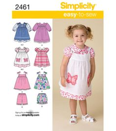 Simplicity Pattern 2461-Toddlers Dresses-Sz 1/2-3-4Simplicity Pattern 2461-Toddlers Dresses-Sz 1/2-3-4,