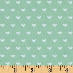 Vintage Valentine Toss Light Mint from @fabricdotcom  Designed by Anne Was Here for Clothworks, this cotton print collection features sweet love-themed prints. Perfect for quilting, apparel, and home decor accents. Colors include mint green and white.