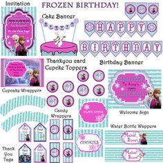 Frozen Birthday Party Premium pack  JPEG 300 by DecorAtYourDoor, $20.00