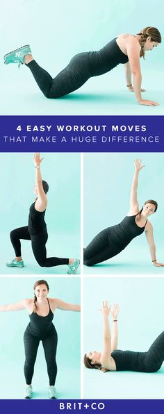 Save this for 4 easy workouts that will make a serious difference.