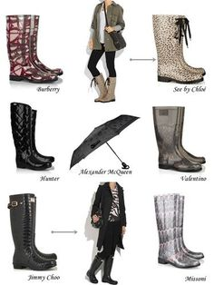 Rainy season is here are so are rain boots!