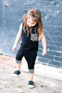 These Rompers are made from a very soft, stretchy spandex/jersey knit fabric. The elastic neckline provides easy on and off while reinforcing its shape. This romper is true to size and hits just below the knee.