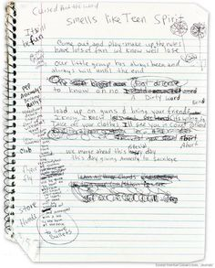 Kurt Cobain's journals