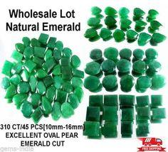 310 Ct/45 Pcs Natural Brazilian Green Emerald Mix Faceted Cut Loose Gems 10-16mm #GemsIndiaTopRatedPowerSeller5RatingeBay