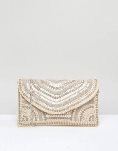 Image 1 ofNew Look Embellished Envelope Clutch Bag