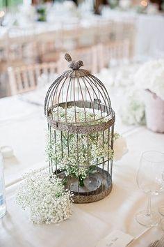Simple bird cage centre pieces