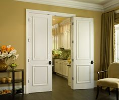 JELD-WEN - Custom Carved Interior Door (C2060)  8ft. Single-hip Panel with Raised Moulding - love for entry to a master BR or office