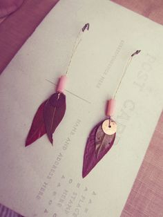 I love this idea for gorgeous earrings you can make yourself.