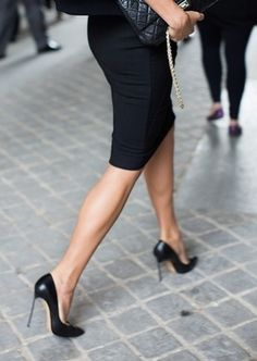 so sexy, a black pencil skirt and high heels