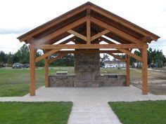 Timber frame pavilion, Fort Drum, NY.