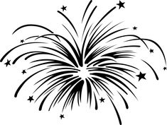 Fireworks Clipart Black And White Fireworks Clipart, Disney Fireworks, Fireworks Art, How To Draw Fireworks, Happy New Year Fireworks, July 4th, Firework Tattoo, Firework Drawing, Japanese Embroidery