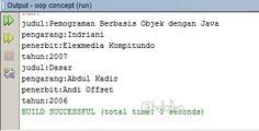 Script Atau Coding Class Buku Pada Java - HELLO FLEN