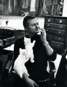 Stan Getz with his kitties, real love