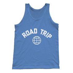 Roat Trip Tank Top Retro Athletic Travel Tank Top by boredwalk