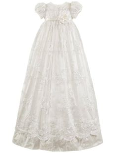 Baby Blessing Dress. I don't like all the frillies or that it's soooo long but LOVE the lace :)