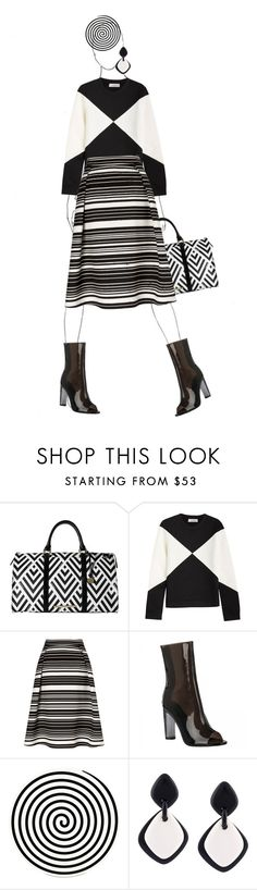"""""""A little bit of Op-Art"""" by kjstylerussia ❤ liked on Polyvore featuring Brahmin, Valentino, Miss Selfridge, Altreforme and Monies"""