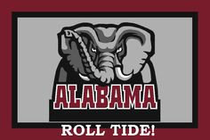 "Alabama Crimson Roll Tide Cross Stitch Pattern***L@@K*** YOUR FINISHED PATTERN SIZE. 360 Stitches x 270 Stitches 20.0"" X 15.0"" ON (18 COUNT) AIDA CLOTH.  ~~ I SEND WORLD-WIDE ~~Free"