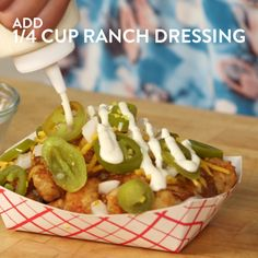 Can you think of anything better than chili cheese fries? It's a tall order for sure, but Sonic's Extreme Tater Tots are a strong contender. Made with tater tots (instead of fries) and topped with chili, cheese, onions, pickled jalapeños, and — wait for it — ranch dressing, they're the crown jewel of the brand's secret menu. Salivating yet? We certainly were, so we knew we had to make our take on this ridiculously amazing side.