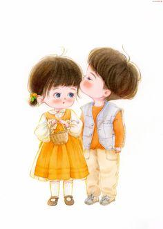 Cartoon Girl Images, Cute Cartoon Pictures, Cartoon Art Styles, Cute Couple Wallpaper, Cute Disney Wallpaper, Cute Cartoon Wallpapers, Cute Bunny Cartoon, Cute Love Cartoons, Cute Couple Drawings