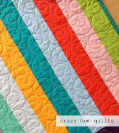 crazy mom quilts: parachute quilts