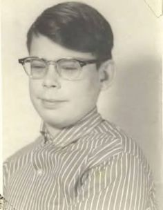 An early school photo of Stephen King. Image via.