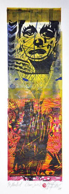 "Saatchi Art Artist Tezcan Bahar; Printmaking, ""Clown Series - 2 - Limited Edition 1 of 1"" #art"