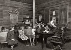 October 1921: Sunset School, Marey, West Virginia, notice the bare feet....