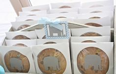 Make large cookies and gift them in CD sleeves with large stickers on them - perfect party favor