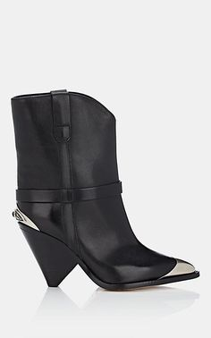 10f559004b7aa5 We Adore: The Lamsy Leather Ankle Boots from Isabel Marant at Barneys New  York Black
