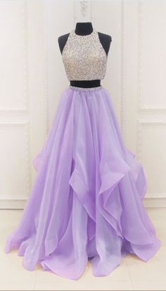 Two Pieces Ball Gown Prom Dress, Handmade Prom Dress,Prom Dresses,,Evening Dress, Ball Gown Prom dress, Formal Women Dress,prom dress