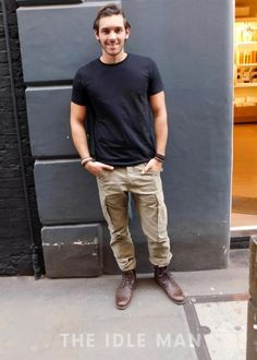 Men's Street Style | Khaki Cargo | Shop the look at TheIdleMan.com | #StyleMadeEasy